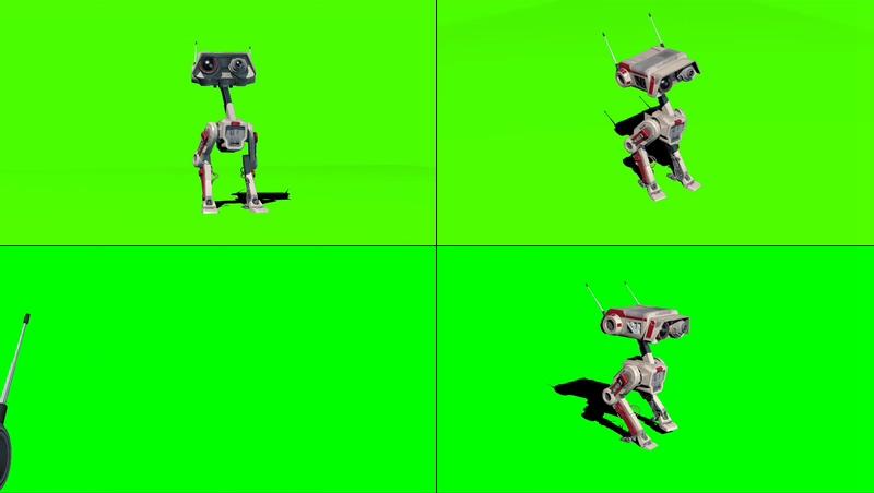 绿幕视频素材BD-1机器人