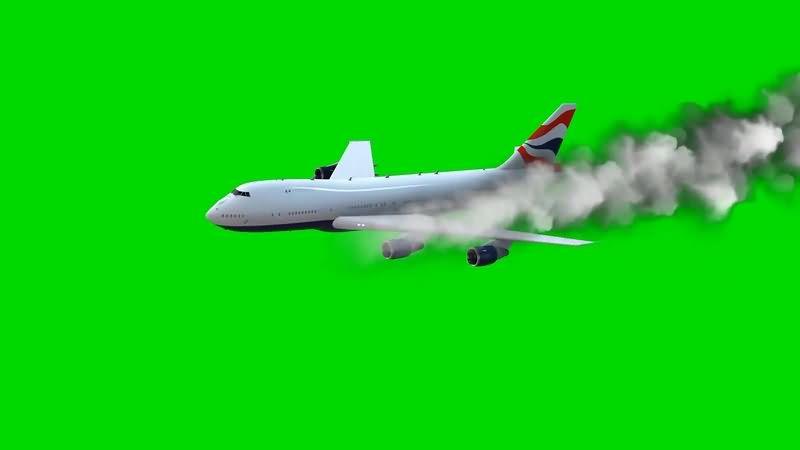 绿幕视频素材客机