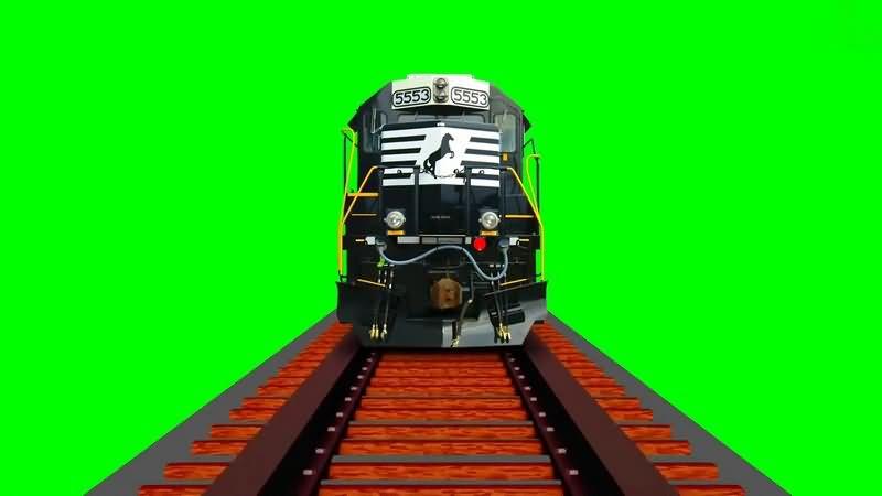 绿幕视频素材火车