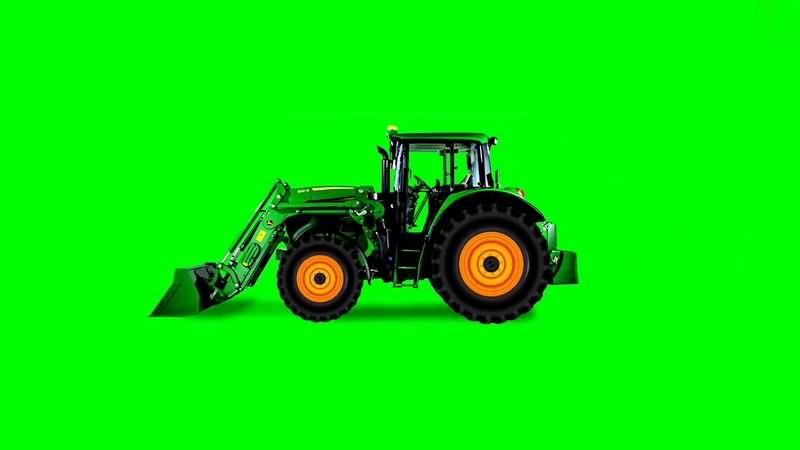 绿幕视频素材推土机