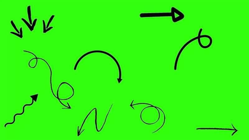 绿幕视频素材箭头