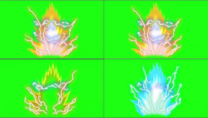 绿幕视频素材变身光芒