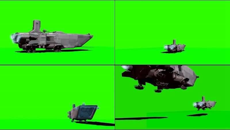 绿幕视频素材运输机