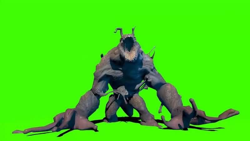 绿幕视频素材沼泽怪物