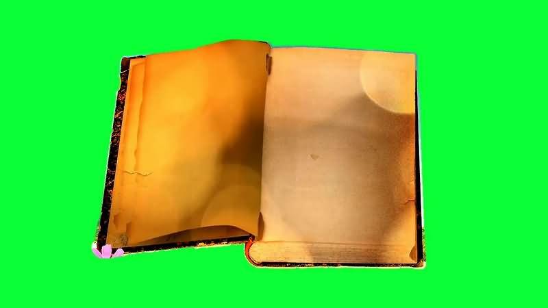 绿幕视频素材旧书