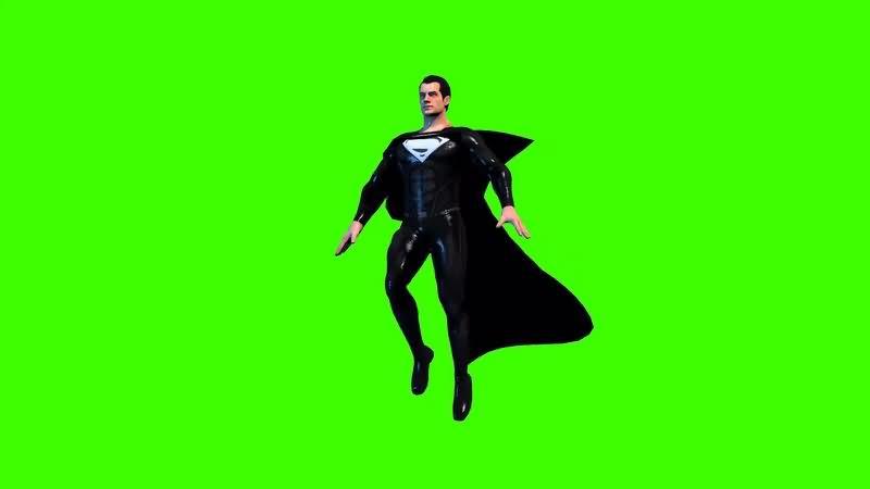 绿幕视频素材黑衣超人.jpg