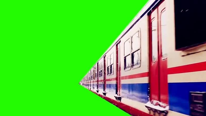 绿幕视频素材雪国列车