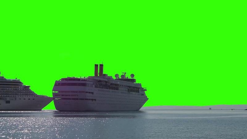 绿幕视频素材游轮