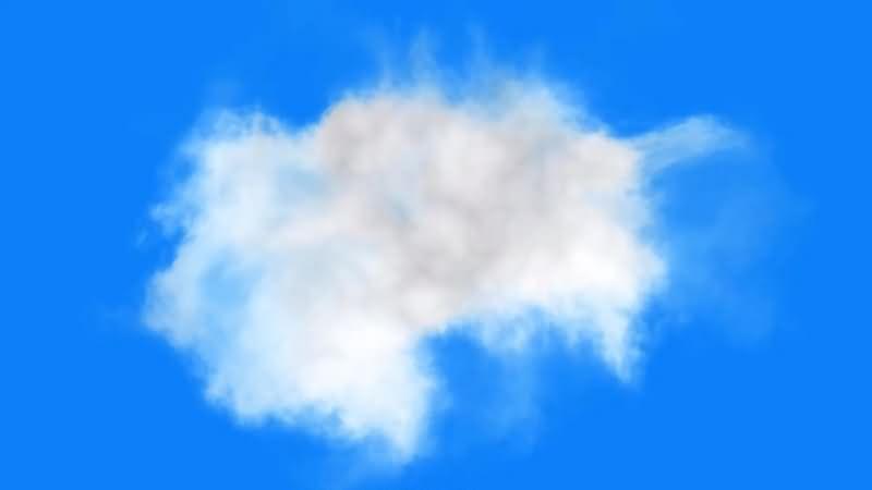 绿幕视频素材云雾