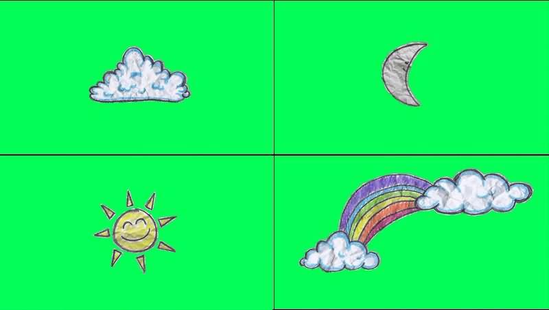 绿幕视频素材太阳月亮云朵.jpg