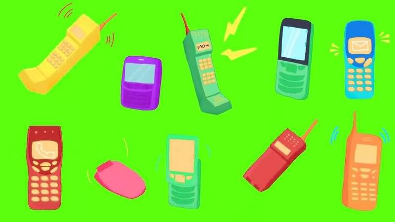 绿幕视频素材老式手机