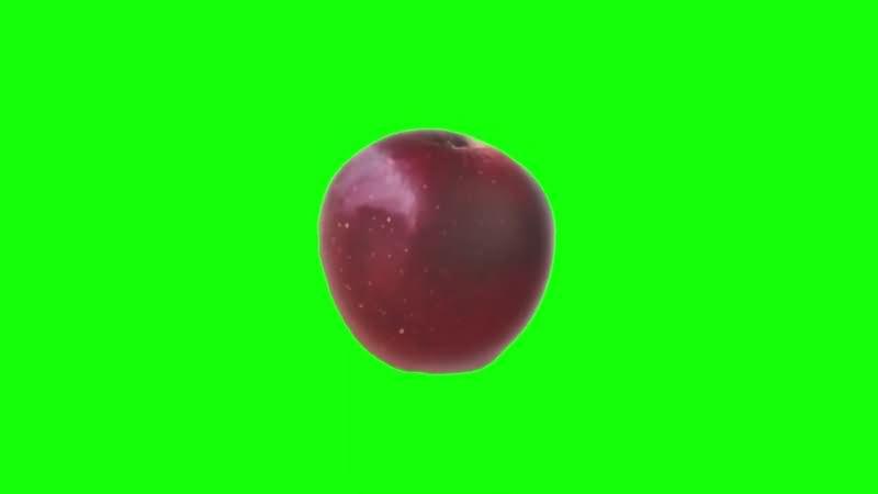 绿幕视频素材红苹果