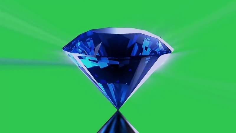 绿幕视频素材蓝钻石