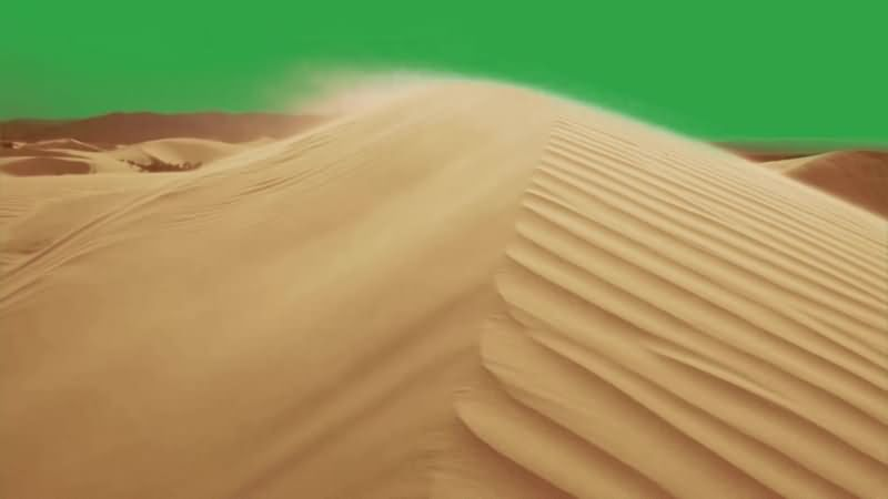 绿幕视频素材沙漠