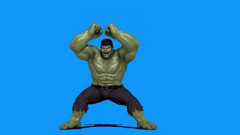 绿幕视频素材绿巨人