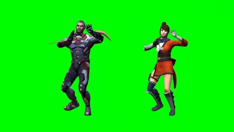 绿幕视频素材跳舞