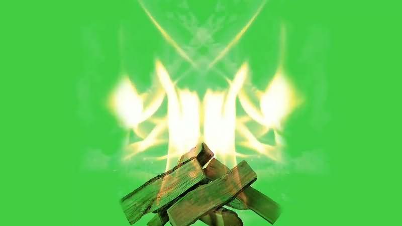 绿幕视频素材火堆