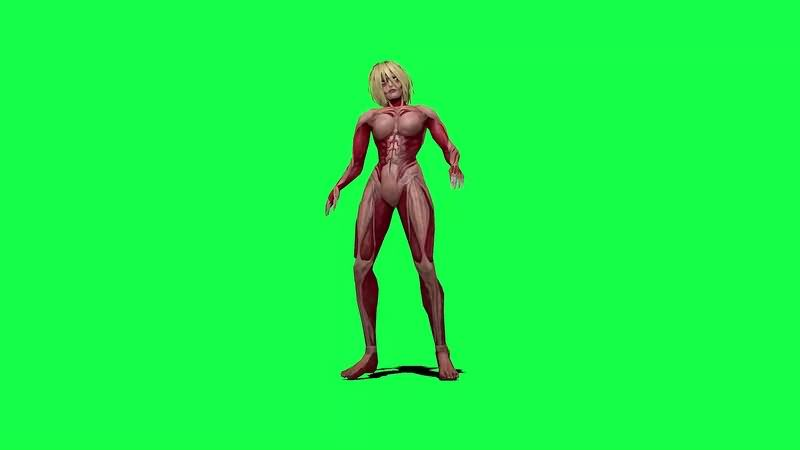 绿幕视频素材进击的巨人