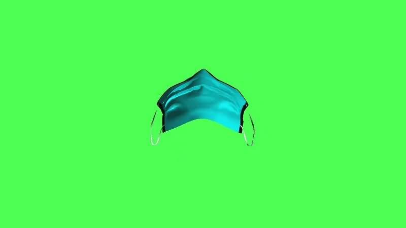绿幕视频素材口罩