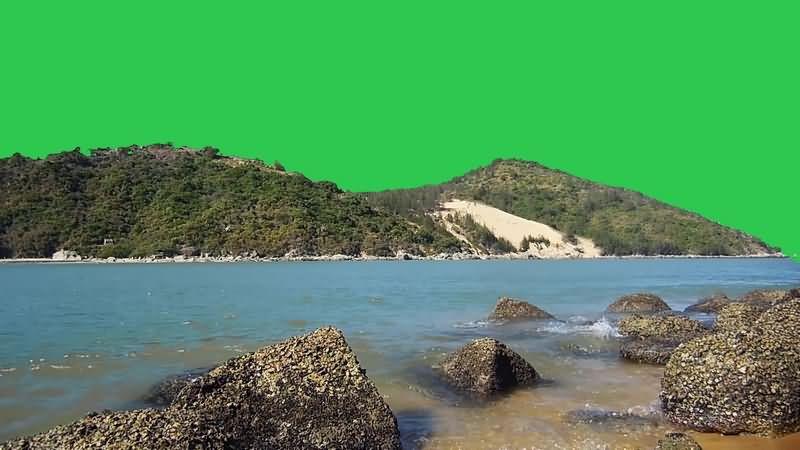 绿幕视频素材山川河流