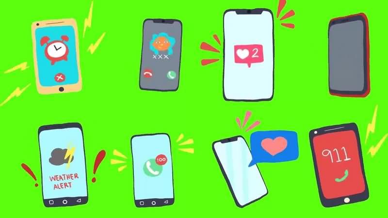绿幕视频素材智能手机