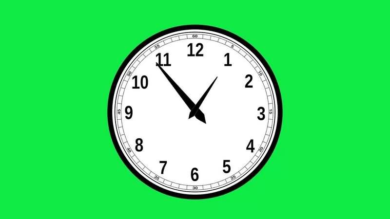 绿幕视频素材钟表