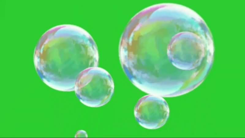 绿幕视频素材泡泡