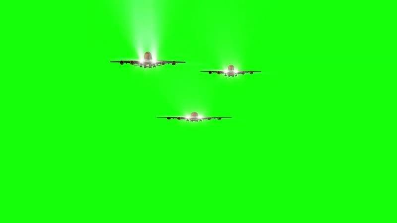 绿幕视频素材飞机