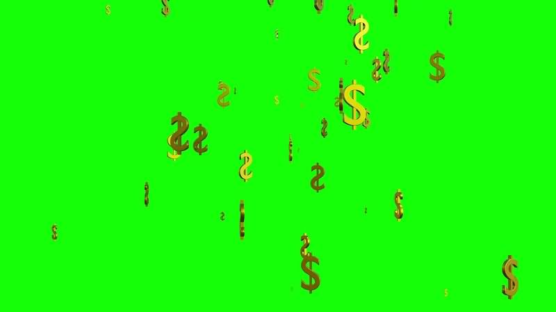 绿幕视频素材美元符号