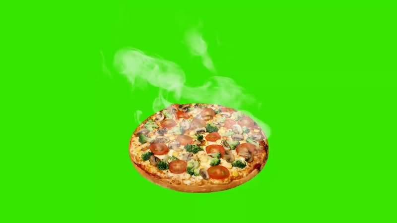 绿幕视频素材披散饼